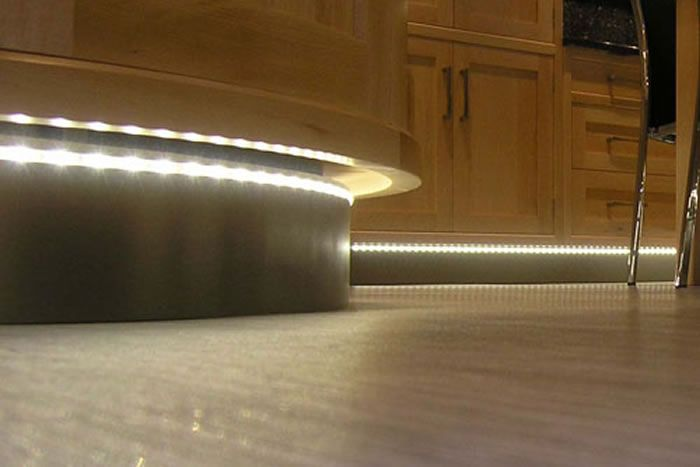 Kitchen Plinth Lighting In Kettering Kitchen Showroom Wittering - Kitchen plinth lighting ideas