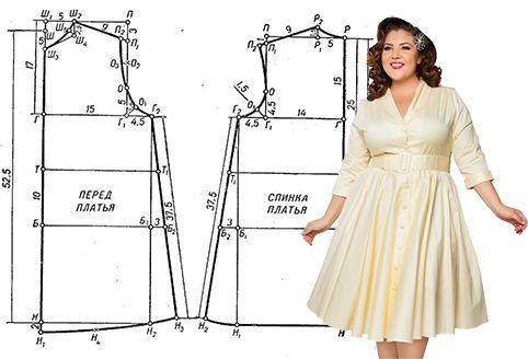 39f70c0359da04 Выкройки одежды больших размеров   простые выкройки   Одежда ...