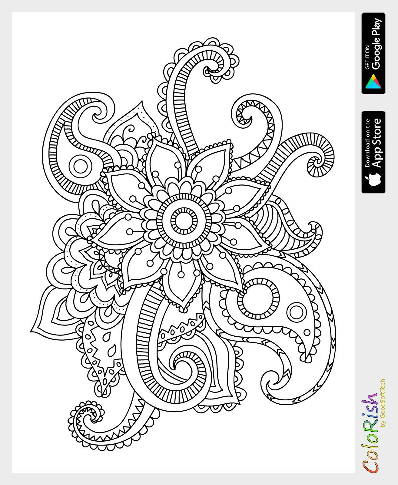 Pin By Lina Lopera On Colouring Pages Paisley Color Pattern Coloring Pages Pattern Art