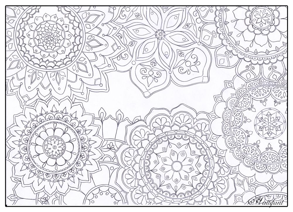 Free A4 Colouring Pages For Adults : Stress relief mandala flowers get more of hattifants