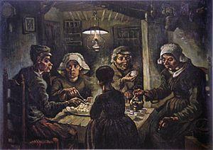 Vincent van Gogh Los comedores de patatas (1885), pintura al ...