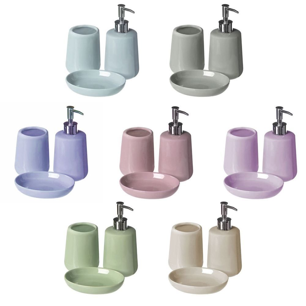 3pc Moon Bathroom Set Tumbler, Soap Dish, Dispenser Bathroom Toilet ...
