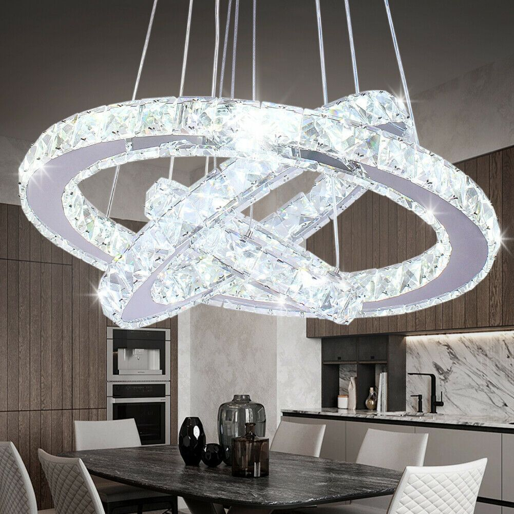 Crystal Ring Chandelier Pendant Light In 2020 Ceiling Lights Crystal Ceiling Light Chandelier Pendant Lights