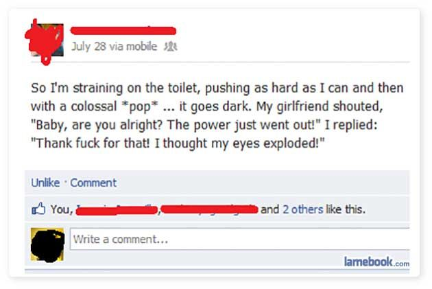 A Collection Of Facebook Status Updates Posted At Wildly Inappropriate Moments