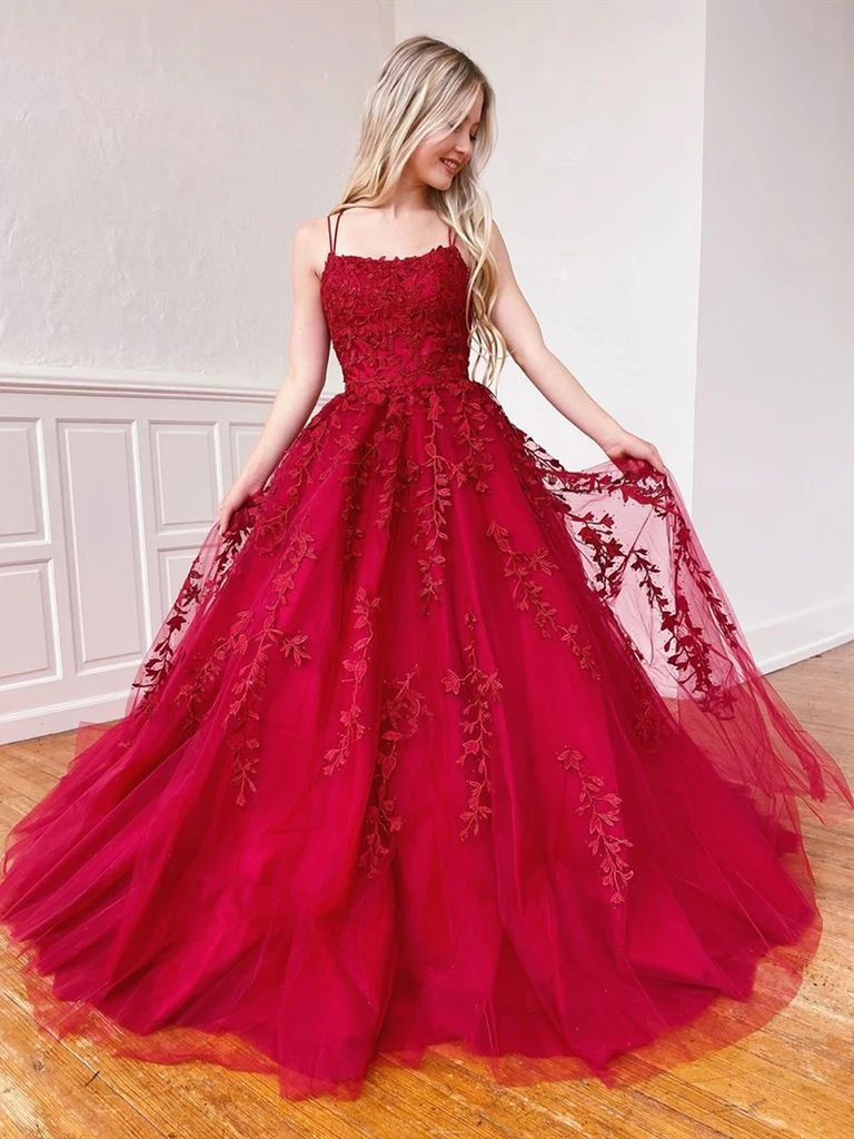 Backless Burgundy Lace Prom Dresses Open Back Wine Red Lace Formal Evening Dresses Red Prom Dress Prom Dresses Ball Gowns [ 1024 x 768 Pixel ]