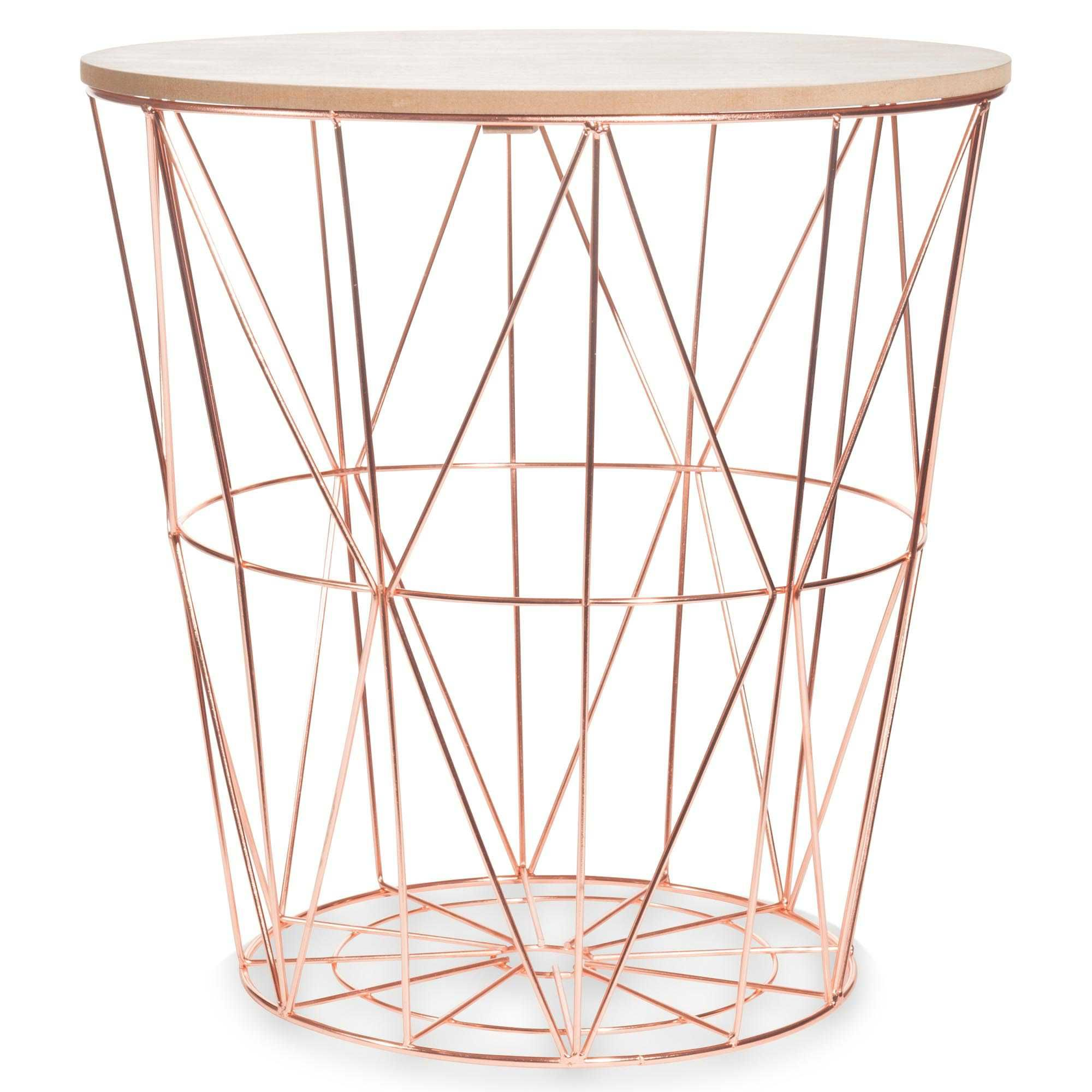 Meubles D Appoint Salon Metal Side Table Rose Gold