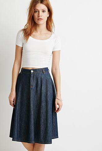 Womens Denim Skirt | Forever21.com | Ladies Denim Skirt, Female Denim Skirt