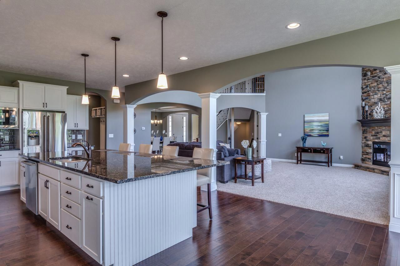 Beautiful First Floor Master Plan With An Open Living Concept This Living Room Floor Plans Open Kitchen And Living Room Kitchen Plans With Island Open Concept