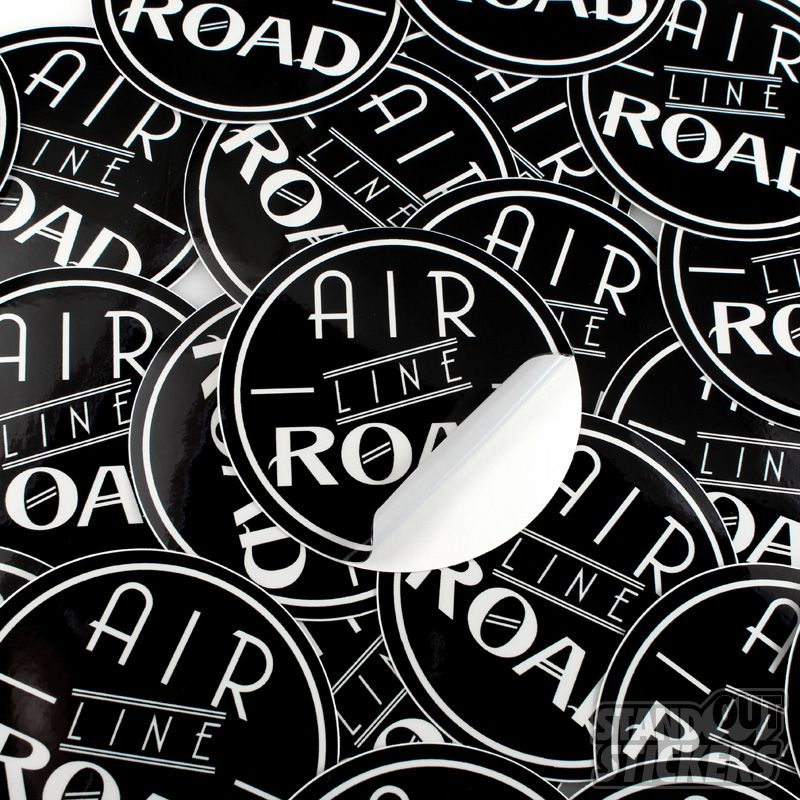 Air line road circle custom vinyl stickers