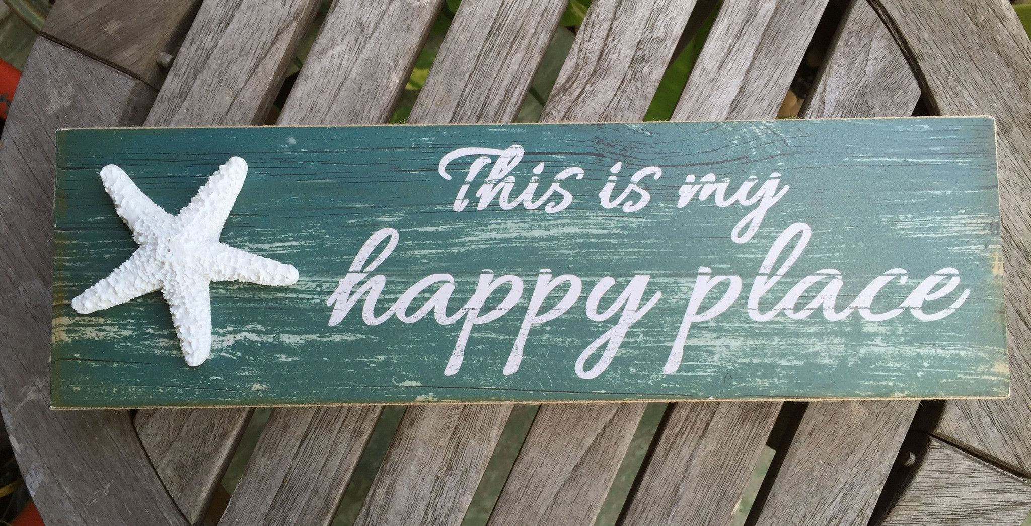 This Is My Happy Place Beach Sign Beach Decor Starfish