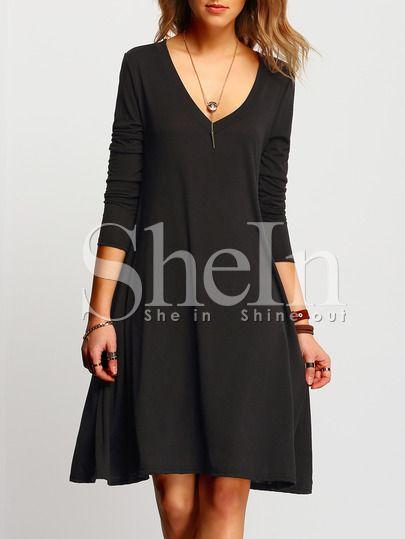 Collares para vestido negro cuello v