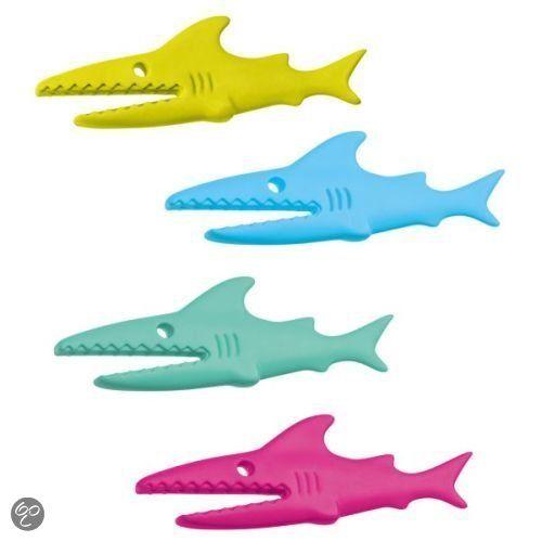 Koziol Knijpers Sharky, set van 4