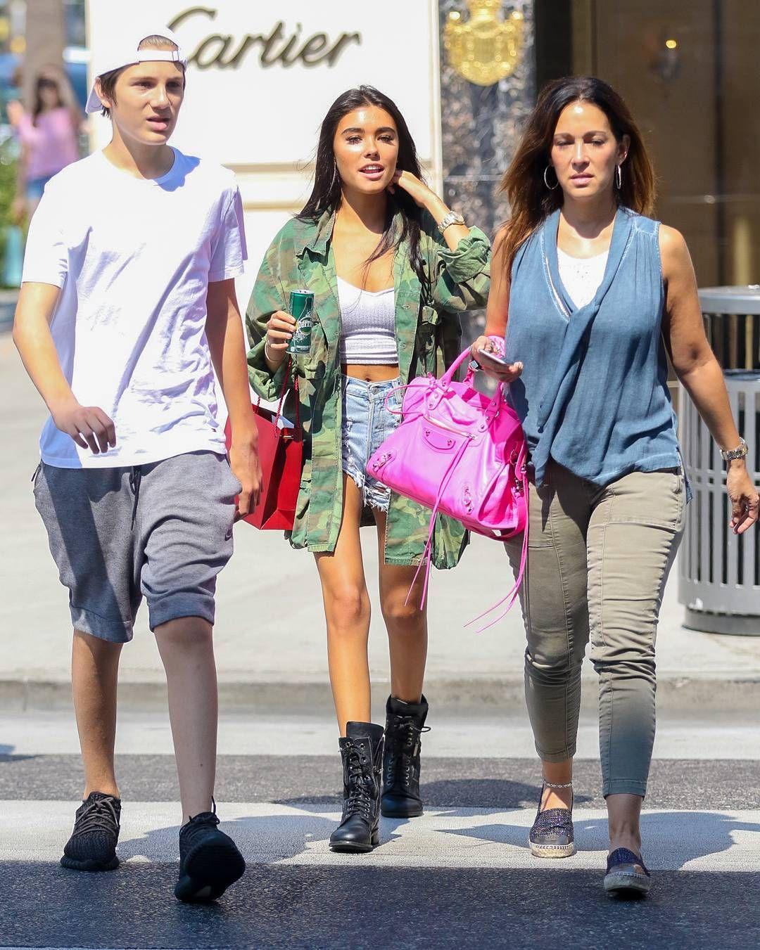 Madison, Tracie, & Ryder- Out and about in Beverly Hills, CA today! #MadisonBeer (August 23rd, 2016)