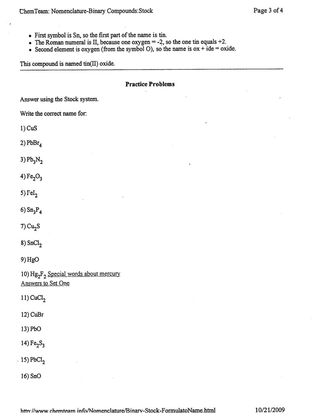 Writing Chemical Formulas Worksheet Chemical Formulas And