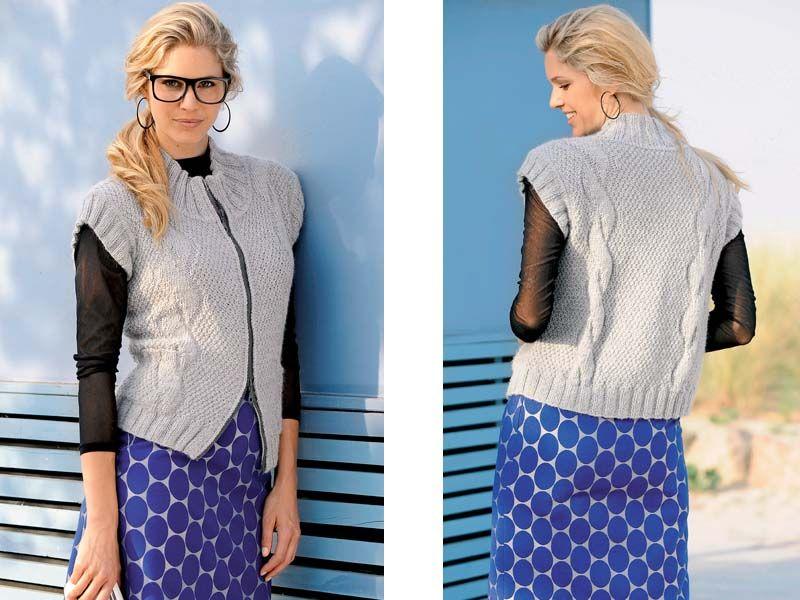 Жилетки и юбки схемы вязания