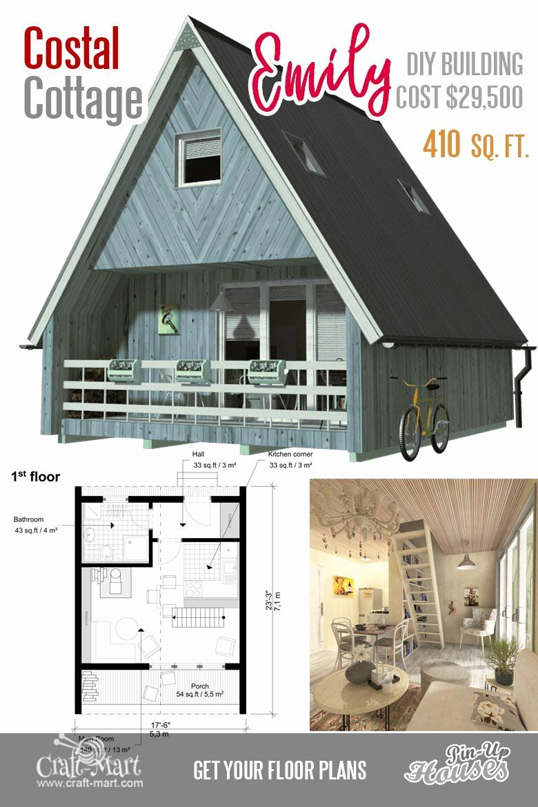 Two Bedroom Tiny House Plans Beautiful Cute Small House Floor Plans A Frame Homes Cabins Two Bedroom Tiny House Small Cabin Plans A Frame House Plans