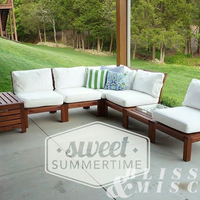 Assembled ikea patiofurniture now we 39 re ready to for Outdoor furniture ikea