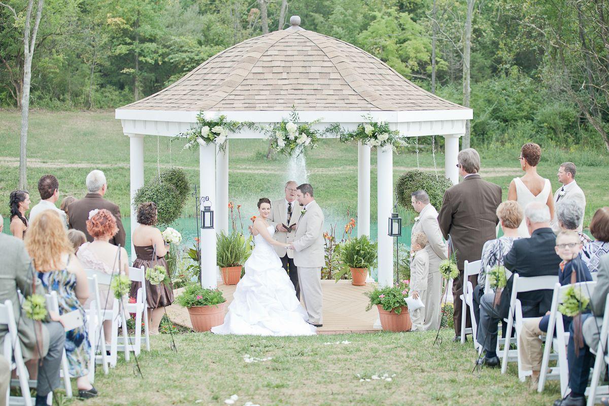 outdoor pavilion wedding Springs Pavilion Outdoor Wedding