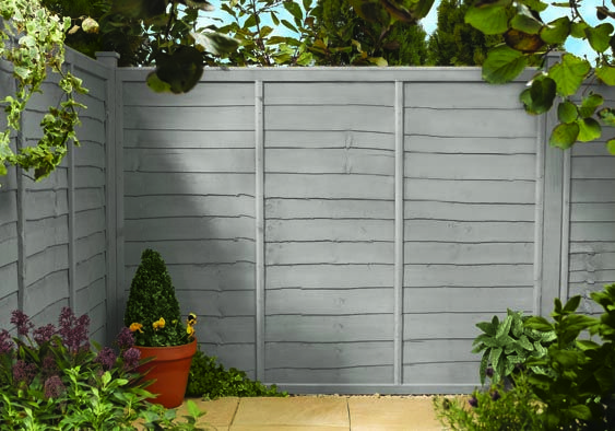 Fence Painted In Cuprinol Frosted Glass Garden Fence Paint