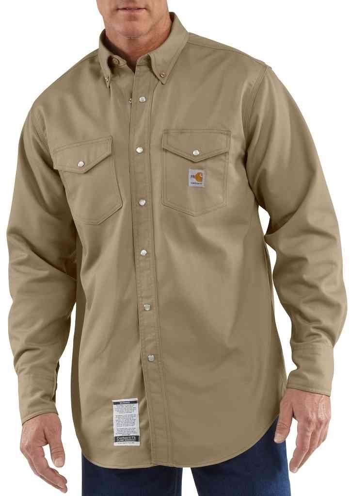 265c173db2d Carhartt FRS006 Men's Flame-Resistant Snap-Front Twill Shirt | My ...