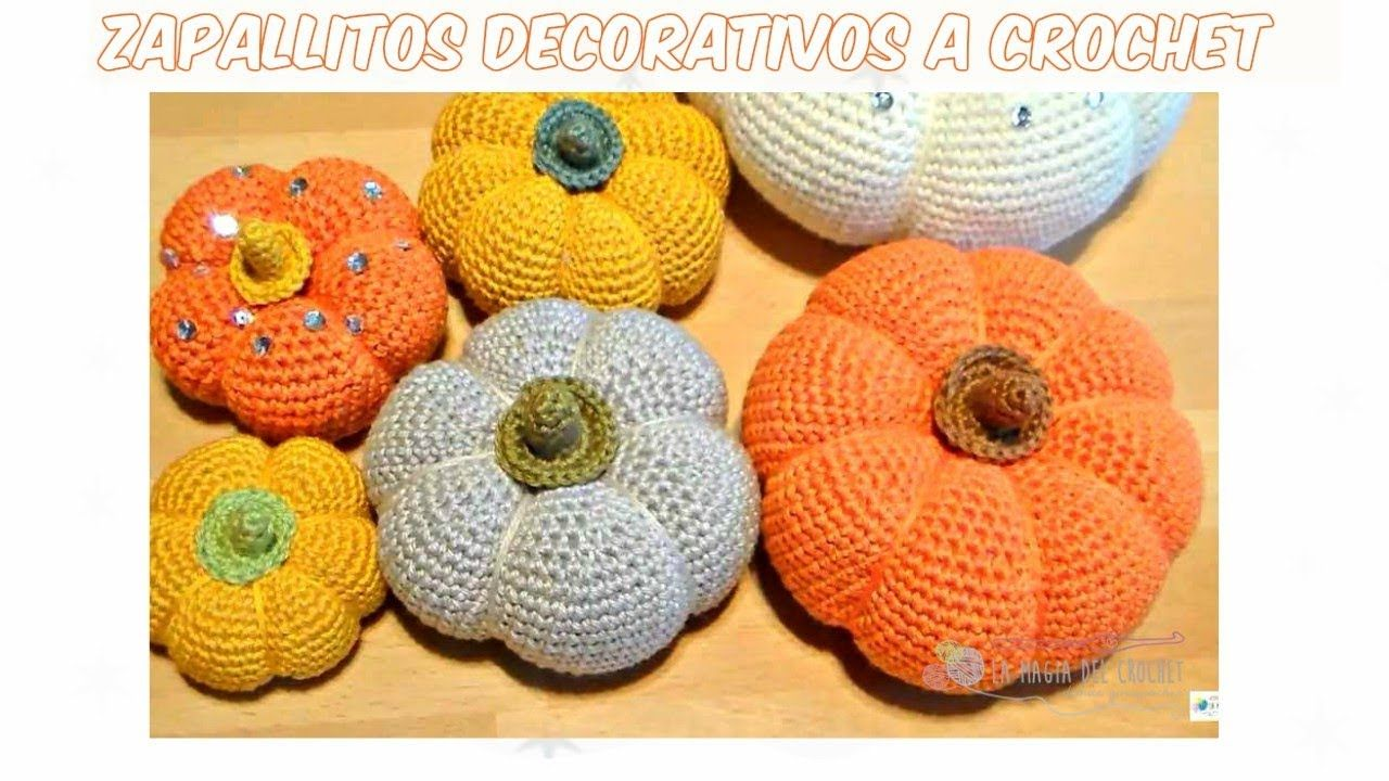 Cómo hacer ZAPALLOS o Calabazas a crochet - decoración de Otoño ...