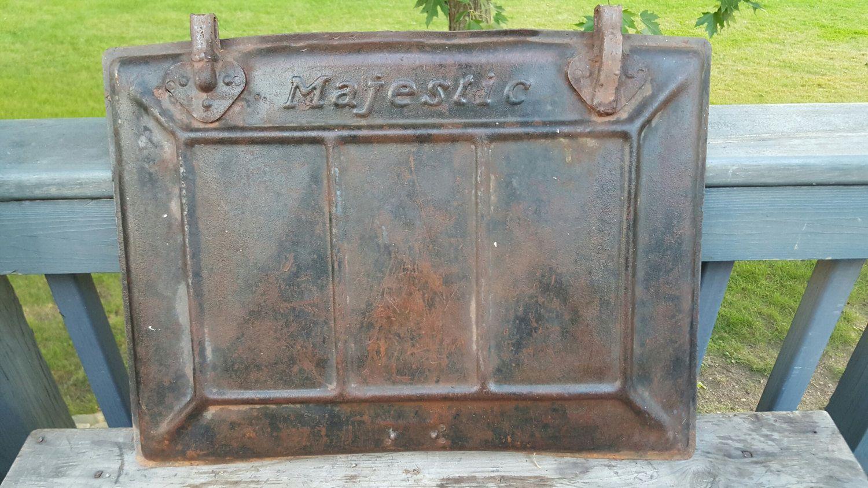 Antique Cast Iron Stove Door Majestic Wood Burning Stove Door Farmhouse Salvage Americana Black Antique Cast Iron Stove Cast Iron Stove Antique Cast Iron