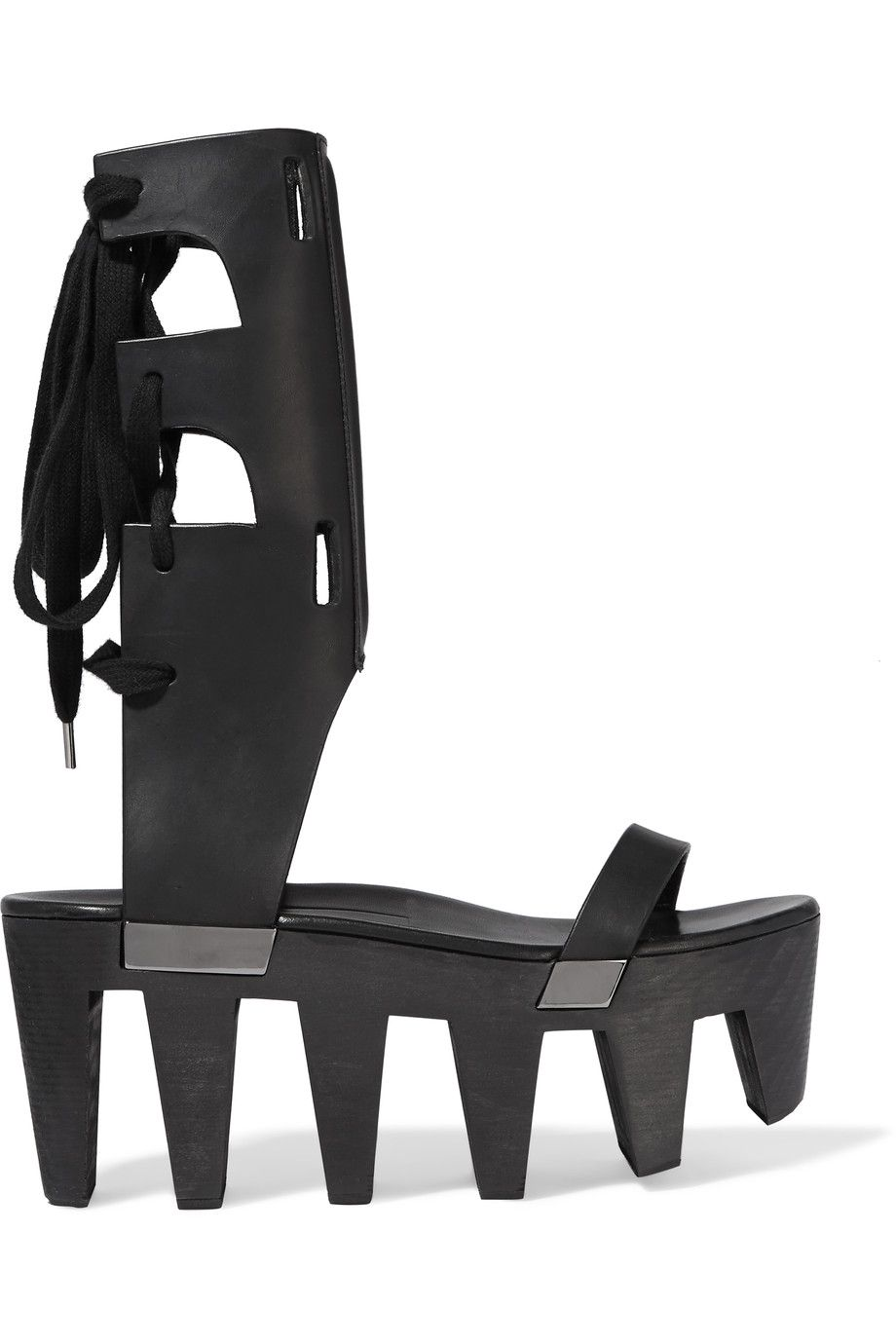 Rick Owens Leather Flatform Sandals clearance fashion Style exclusive cheap online great deals for sale cheap newest buy cheap visa payment XnrmQXW4p4