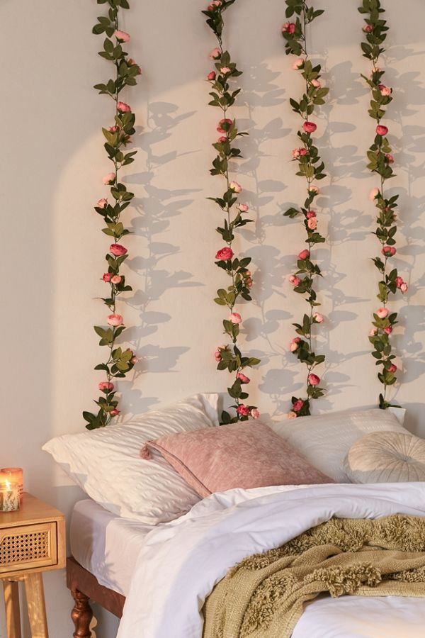 Decorative Rose Vine Garland In 2020 Room Decor Bedroom Decor