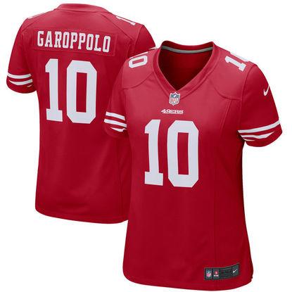 best service f2583 3433e Women's San Francisco 49ers Jimmy Garoppolo Nike Scarlet ...