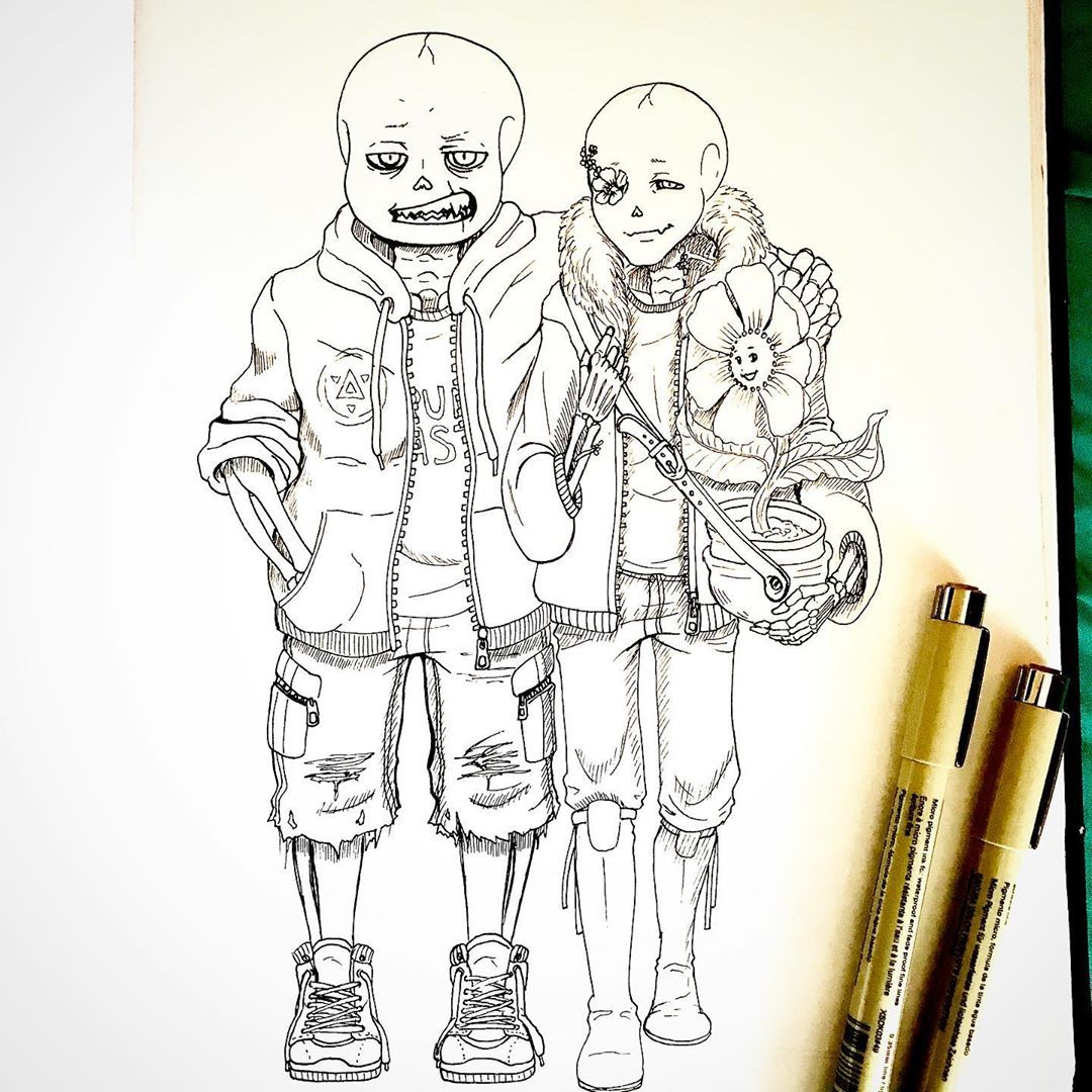 Fan Art Of An Underfell Fanfic Featuring Sans The Skeleton Flowey The Flower A By Frances Cruz Instantpm Net Flowey The Flower Fan Art Coloring Books