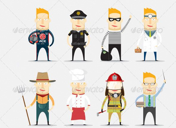 Character Design Job Offer : Human characters vector psd pinterest graphics