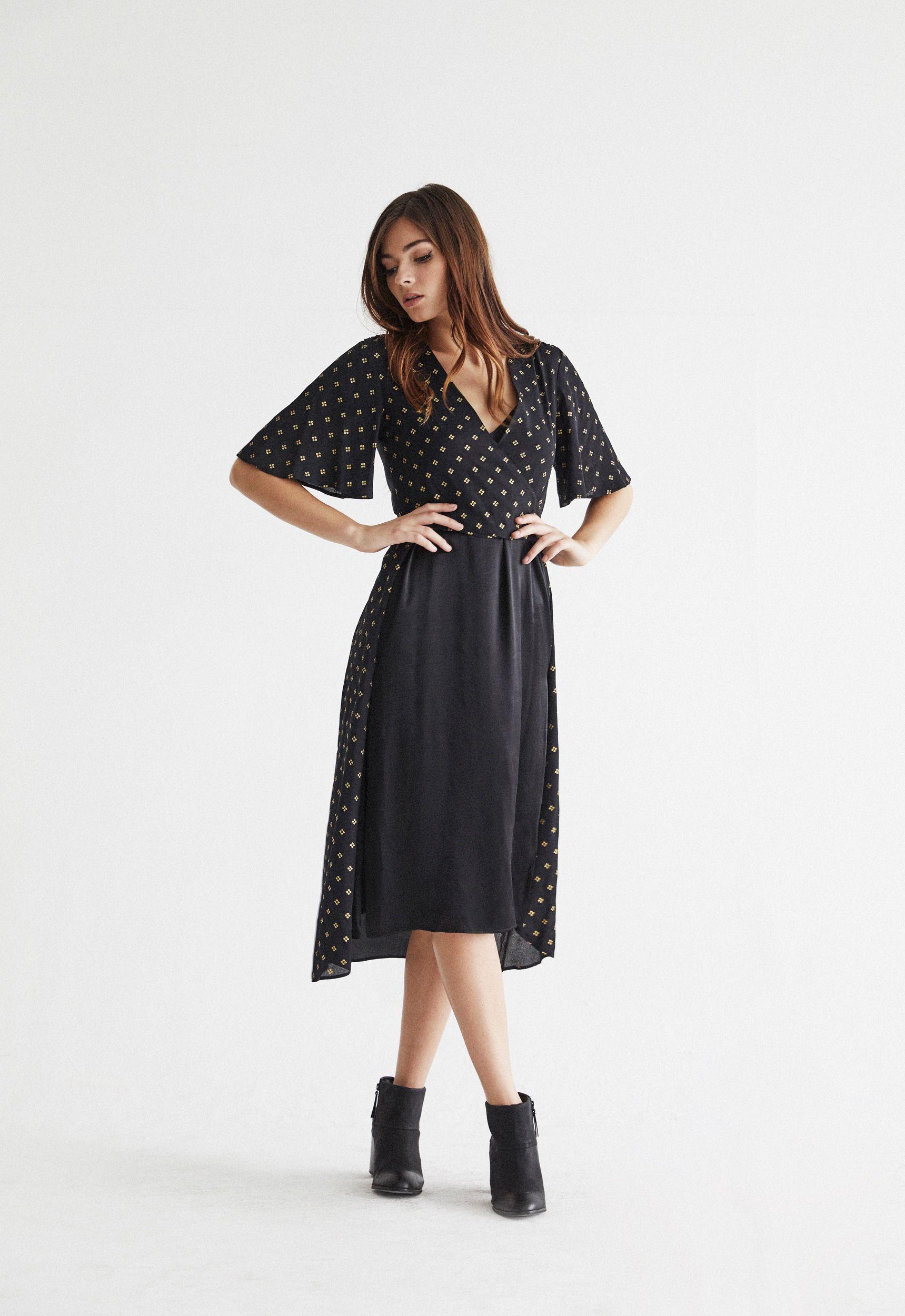 VETTA Wrap Dress Slip Dress