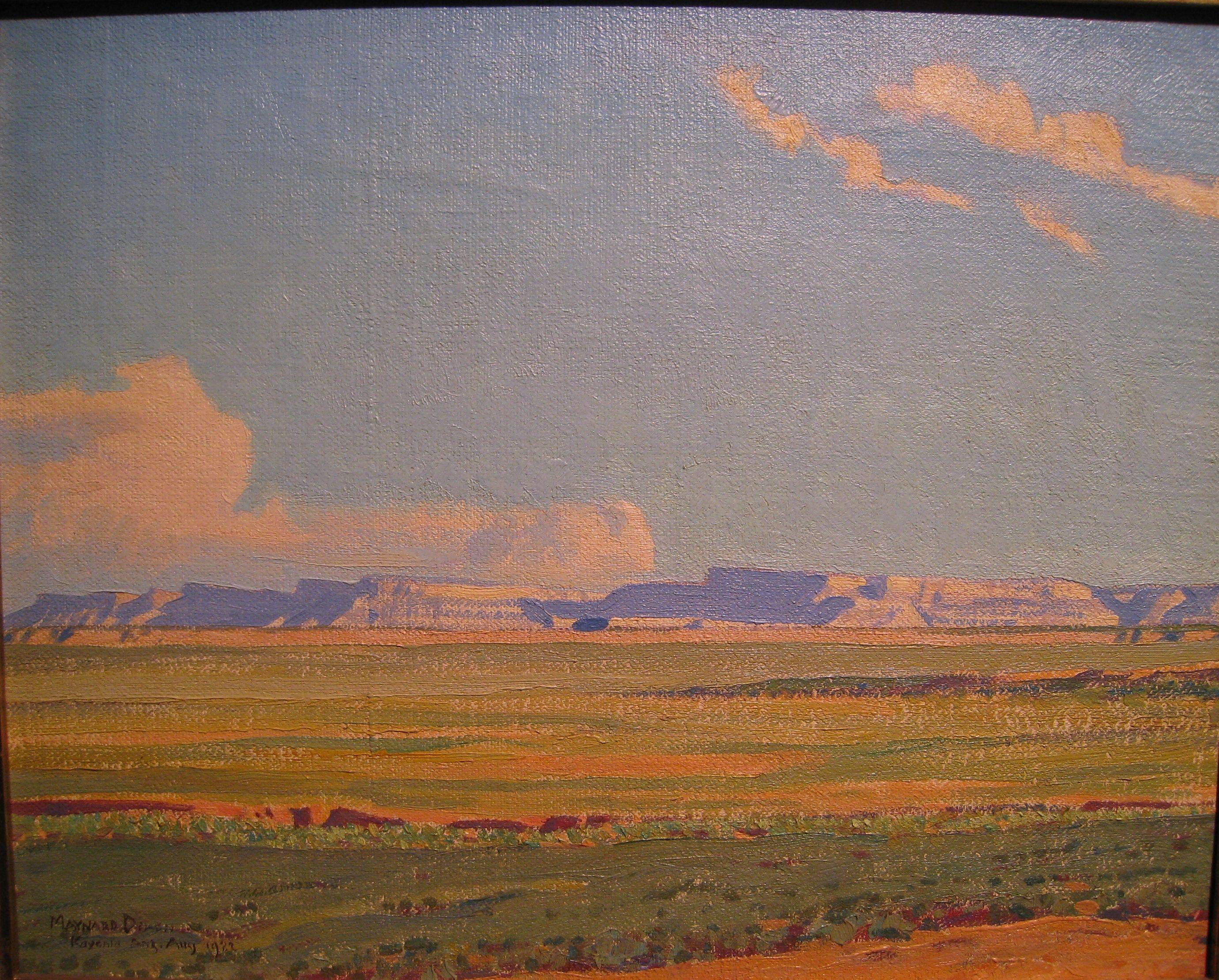 tonypetersart: Maynard Dixon oil painting at the 2013 LA Art Show.