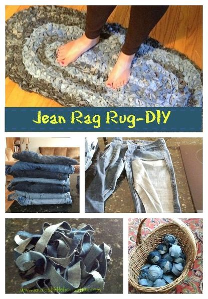 She cut up her jeans in  one long strip  and look what she made for her kitchen sink area is part of Upcycled Crafts Awesome Blue Jeans - This is SO clever!