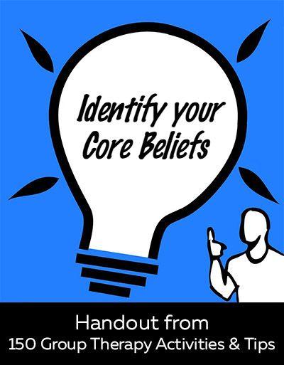 Worksheet On Identifying Core Beliefs Mental Health Resource For