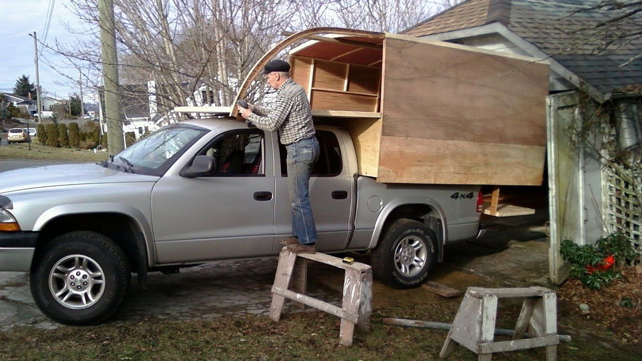 Homemade Truck Camper Diy Youtube Diy Truck Camper Pinterest