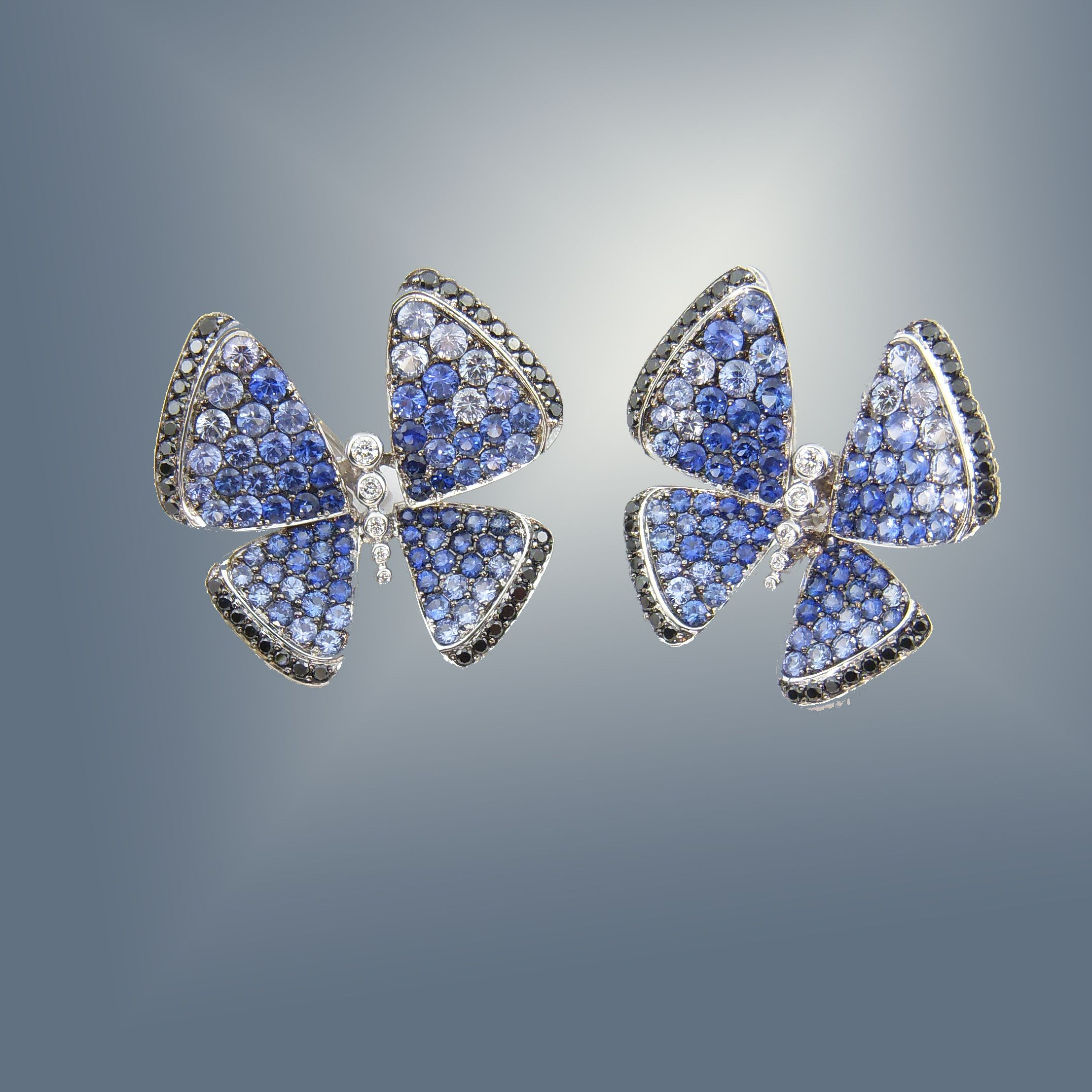 tcw jewelry ring diamond gold effy sapphire blue butterfly white
