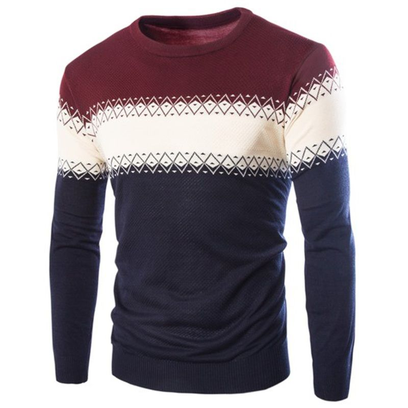 >> Click to Buy << New Arrival Korean Style High Quality Men Spell Color Warm Sweater Hot Sell Male Slim Fit Cashmere Sweater 4Color M-XXL #Affiliate
