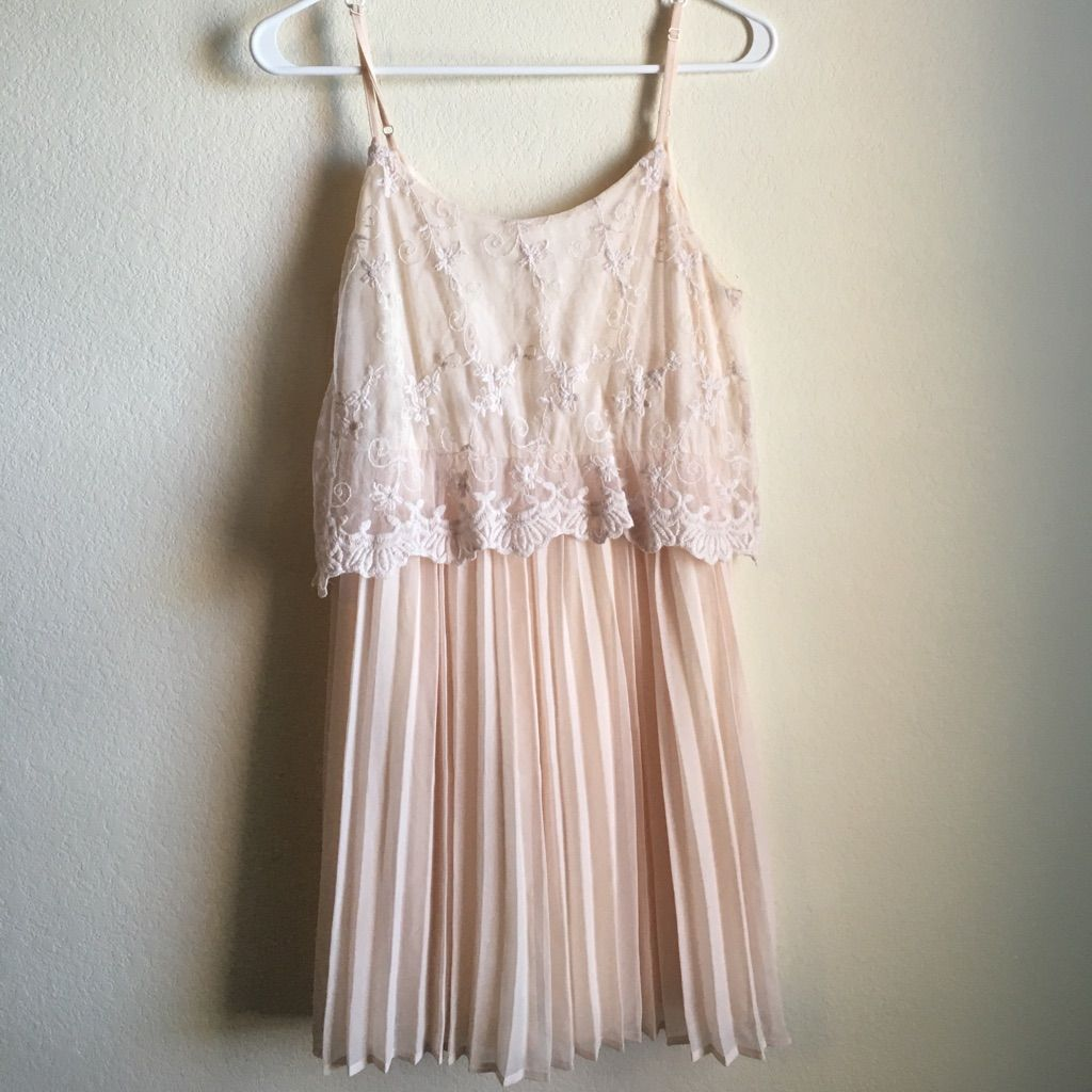 Forever light pink lace top dress products