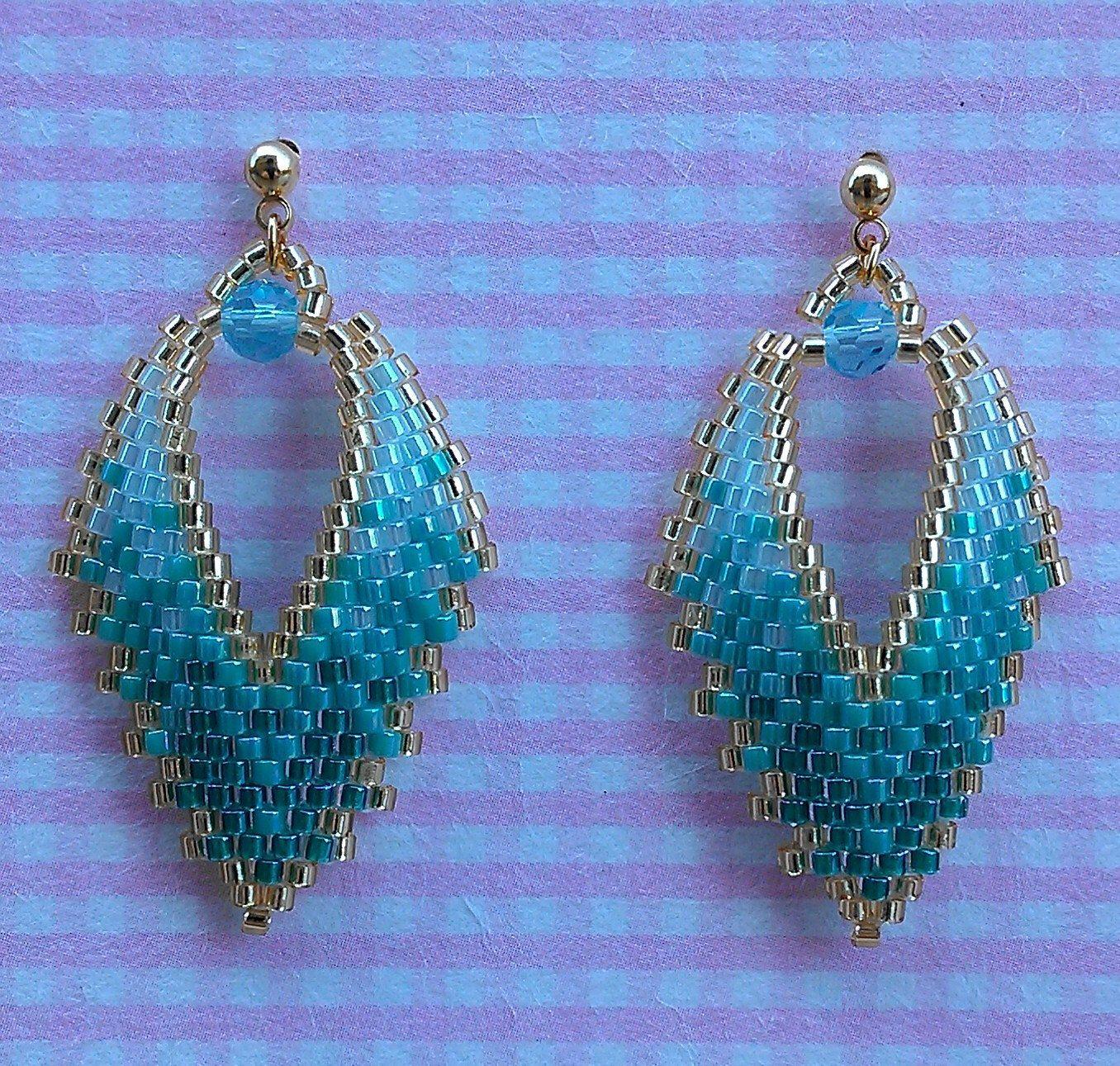 RUSSIAN LEAF EARRINGS by BeadAndBowtique on Etsy https://www.etsy.com/il-en/listing/230375819/russian-leaf-earrings