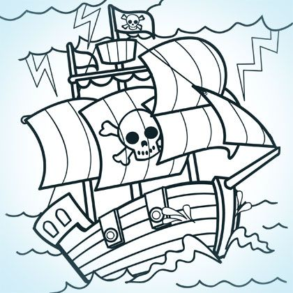 Cowboys Pirates Coloring Pages Printables Spoonful Coloriage Bateau Coloriage Pirates Dessin