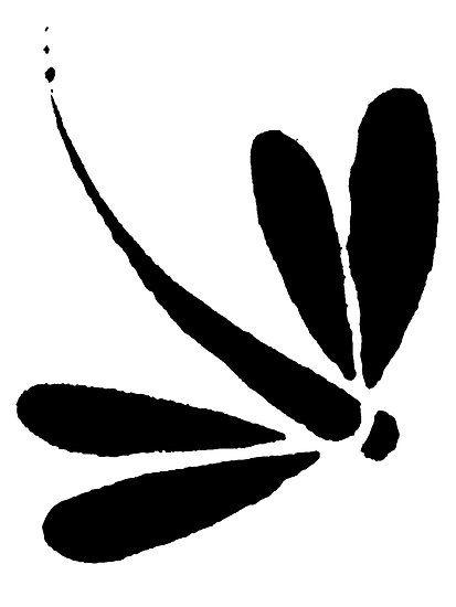simple dragon silhouette clip art