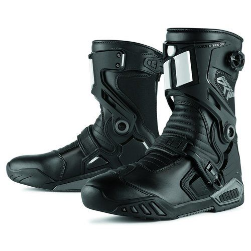 Sportbike Riding Boots >> Icon Mens Raiden Dkr Armored Rear Entry Zip Leather Motorcycle