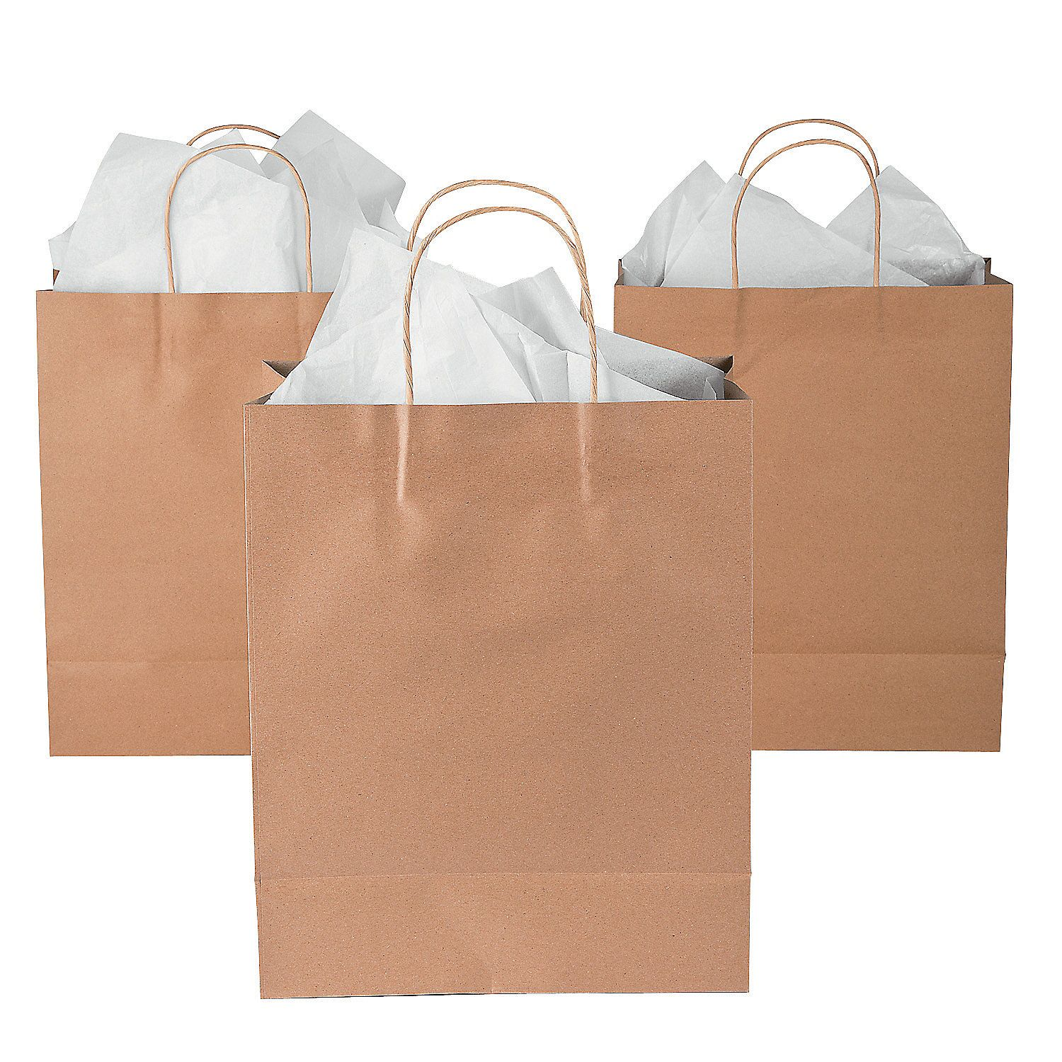 tissue paper in large gift bag