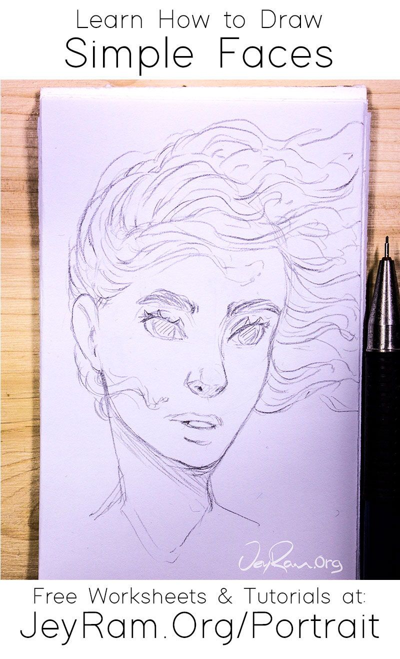 Learn how to draw simple faces with the step by step