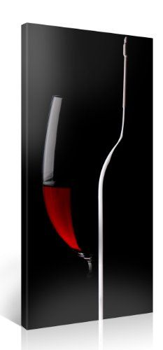Large Canvas Print Wall Art  RED WINE  20x40 Inch Still Life Canvas Picture Stretched On A Wooden Frame  Giclee Canvas Printing  Hanging Wall Deco Picture  e3397 >>> Want to know more, click on the image.Note:It is affiliate link to Amazon.