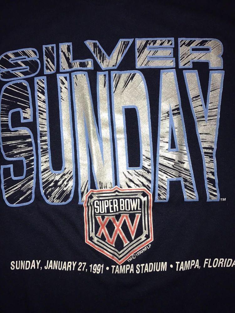 31e926e59 Vintage Super Bowl 25 XXV Shirt 90s Logo 7 NFL Football Mens Large Giants  Bills