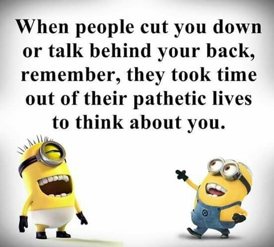 Oh Thats Bad Lmao Minions Funny Funny Quotes Talking Behind Your Back