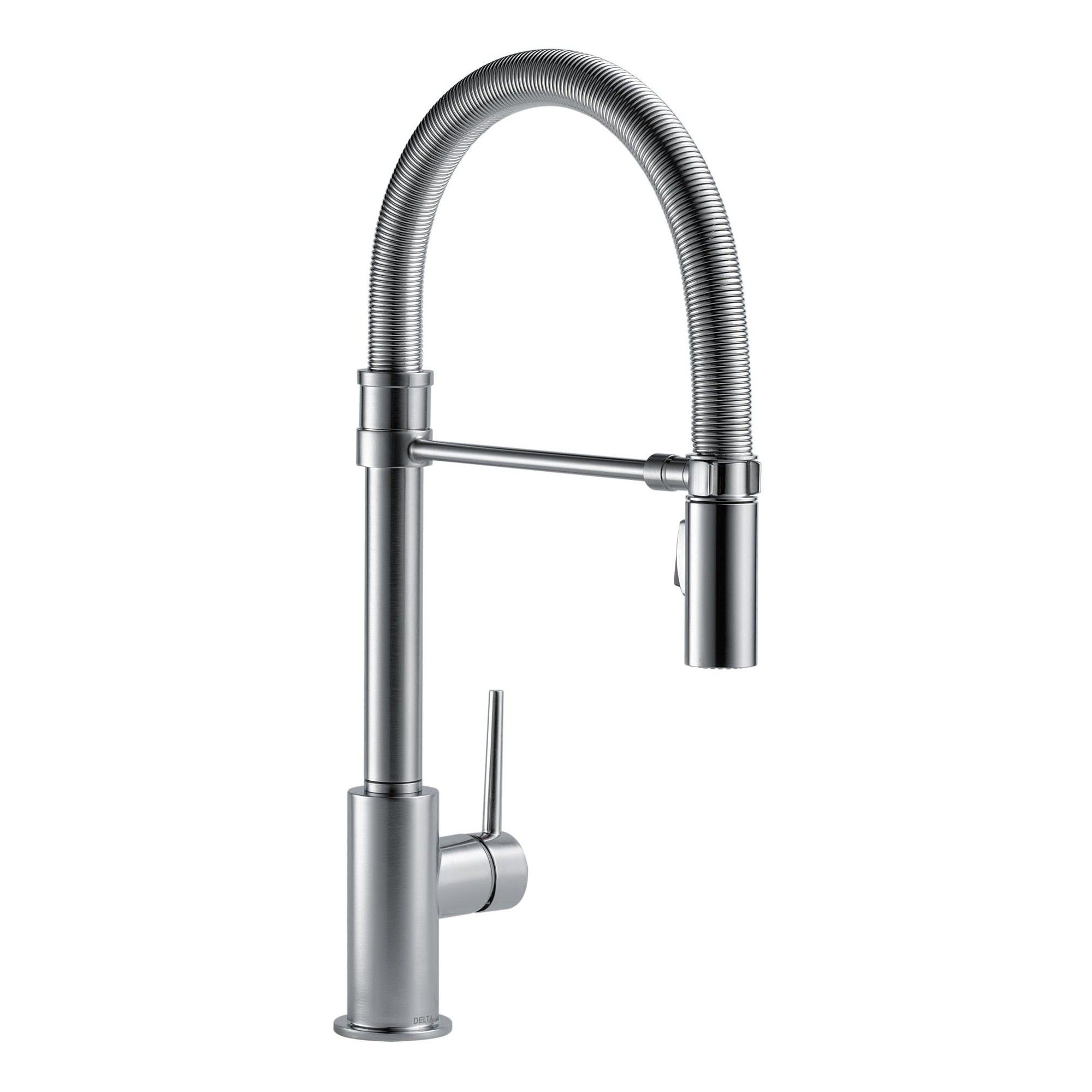 Delta Faucet 9659 Dst Trinsic Pro Pre Rinse Pull Down Kitchen