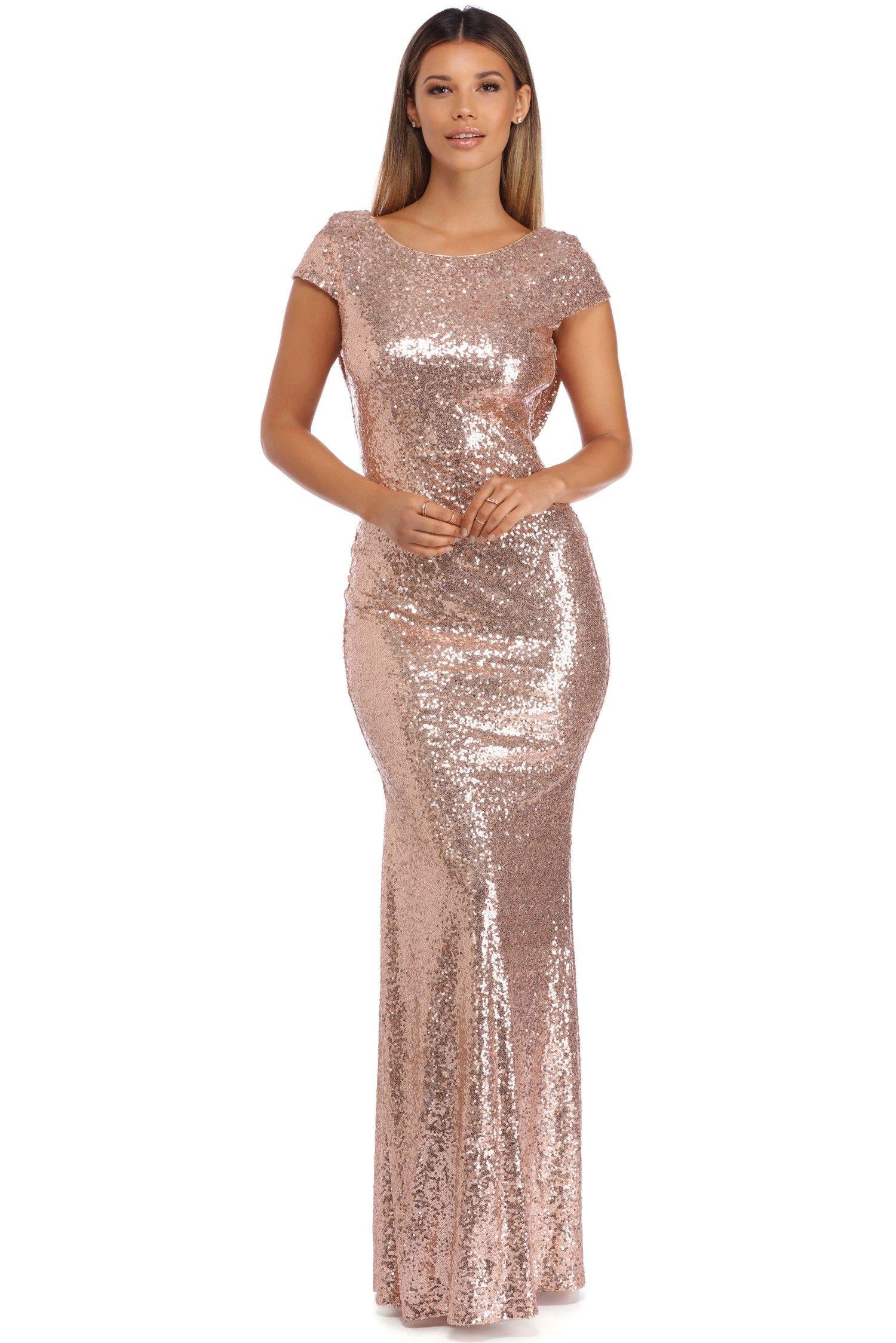 3e2ce8313f8 Plus Sivan Golden Glam Sequin Dress in 2019